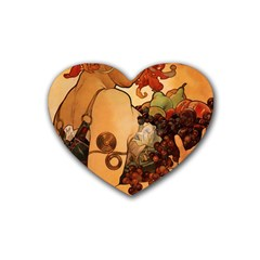 Alfons Mucha   Fruit Heart Coaster (4 Pack)  by 8fugoso