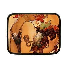 Alfons Mucha   Fruit Netbook Case (small)  by 8fugoso