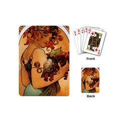 Alfons Mucha   Fruit Playing Cards (mini)  by 8fugoso