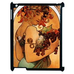 Alfons Mucha   Fruit Apple Ipad 2 Case (black) by 8fugoso