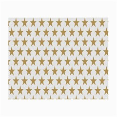 Star Background Gold White Small Glasses Cloth (2 Side) by Onesevenart