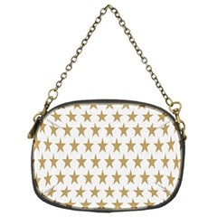 Star Background Gold White Chain Purses (two Sides)  by Onesevenart