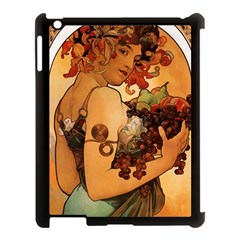 Alfons Mucha   Fruit Apple Ipad 3/4 Case (black) by 8fugoso