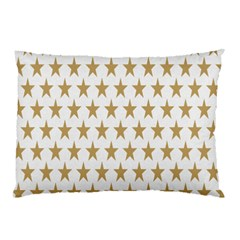 Star Background Gold White Pillow Case (two Sides) by Onesevenart