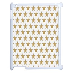 Star Background Gold White Apple Ipad 2 Case (white) by Onesevenart