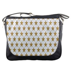 Star Background Gold White Messenger Bags by Onesevenart