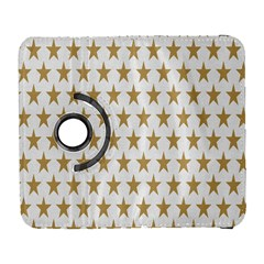 Star Background Gold White Galaxy S3 (flip/folio) by Onesevenart
