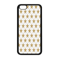 Star Background Gold White Apple Iphone 5c Seamless Case (black) by Onesevenart