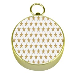Star Background Gold White Gold Compasses by Onesevenart