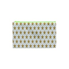 Star Background Gold White Cosmetic Bag (xs) by Onesevenart
