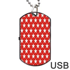Star Christmas Advent Structure Dog Tag Usb Flash (two Sides) by Onesevenart