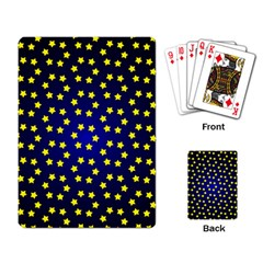 Star Christmas Red Yellow Playing Card by Onesevenart