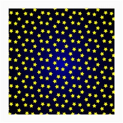 Star Christmas Red Yellow Medium Glasses Cloth (2 Side) by Onesevenart