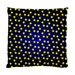 Star Christmas Red Yellow Standard Cushion Case (two Sides) by Onesevenart