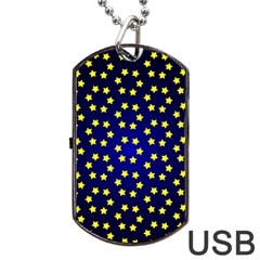 Star Christmas Red Yellow Dog Tag Usb Flash (two Sides) by Onesevenart