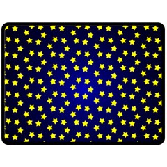 Star Christmas Red Yellow Double Sided Fleece Blanket (large)  by Onesevenart