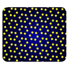 Star Christmas Red Yellow Double Sided Flano Blanket (small)  by Onesevenart