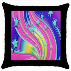 Star Christmas Pattern Texture Throw Pillow Case (black) by Onesevenart