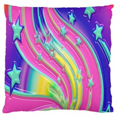 Star Christmas Pattern Texture Large Cushion Case (one Side) by Onesevenart