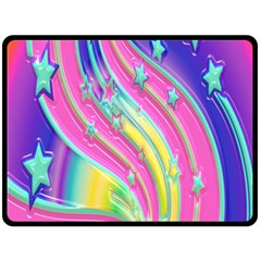 Star Christmas Pattern Texture Double Sided Fleece Blanket (large)  by Onesevenart