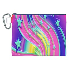 Star Christmas Pattern Texture Canvas Cosmetic Bag (xxl) by Onesevenart