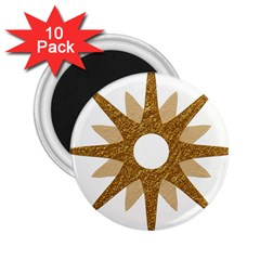 Star Golden Glittering Yellow Rays 2 25  Magnets (10 Pack)  by Onesevenart