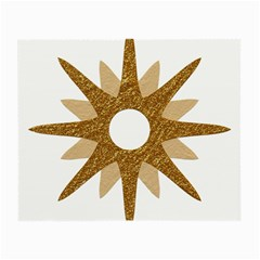 Star Golden Glittering Yellow Rays Small Glasses Cloth (2 Side) by Onesevenart