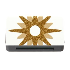 Star Golden Glittering Yellow Rays Memory Card Reader With Cf by Onesevenart
