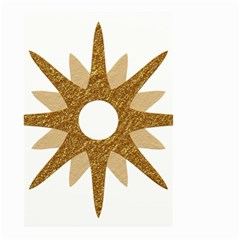 Star Golden Glittering Yellow Rays Small Garden Flag (two Sides) by Onesevenart