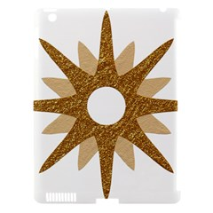 Star Golden Glittering Yellow Rays Apple Ipad 3/4 Hardshell Case (compatible With Smart Cover) by Onesevenart
