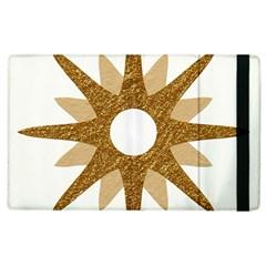 Star Golden Glittering Yellow Rays Apple Ipad 3/4 Flip Case by Onesevenart