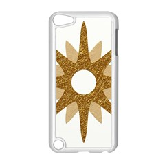 Star Golden Glittering Yellow Rays Apple Ipod Touch 5 Case (white) by Onesevenart