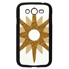 Star Golden Glittering Yellow Rays Samsung Galaxy Grand Duos I9082 Case (black) by Onesevenart