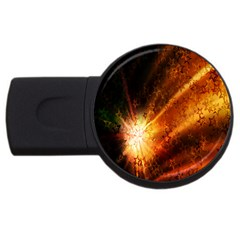 Star Sky Graphic Night Background Usb Flash Drive Round (2 Gb) by Onesevenart