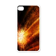 Star Sky Graphic Night Background Apple Iphone 4 Case (white) by Onesevenart