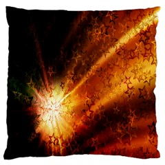 Star Sky Graphic Night Background Large Cushion Case (one Side) by Onesevenart