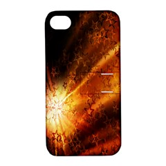 Star Sky Graphic Night Background Apple Iphone 4/4s Hardshell Case With Stand by Onesevenart