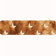 Stars Brown Background Shiny Large Bar Mats by Onesevenart