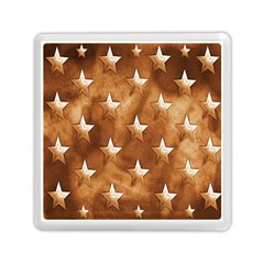 Stars Brown Background Shiny Memory Card Reader (square)  by Onesevenart
