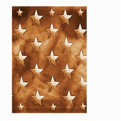 Stars Brown Background Shiny Large Garden Flag (two Sides) by Onesevenart