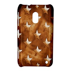 Stars Brown Background Shiny Nokia Lumia 620 by Onesevenart