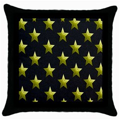 Stars Backgrounds Patterns Shapes Throw Pillow Case (black) by Onesevenart