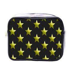 Stars Backgrounds Patterns Shapes Mini Toiletries Bags by Onesevenart