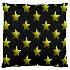 Stars Backgrounds Patterns Shapes Large Cushion Case (one Side) by Onesevenart