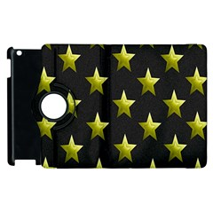 Stars Backgrounds Patterns Shapes Apple Ipad 3/4 Flip 360 Case by Onesevenart