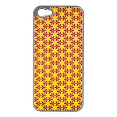 Texture Background Pattern Apple Iphone 5 Case (silver) by Onesevenart