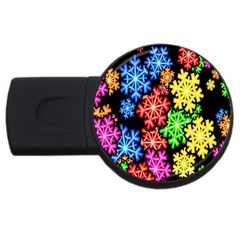 Wallpaper Background Abstract Usb Flash Drive Round (4 Gb) by Onesevenart