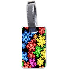 Wallpaper Background Abstract Luggage Tags (one Side)  by Onesevenart
