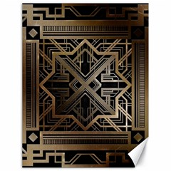 Gold Metallic And Black Art Deco Canvas 18  X 24   by 8fugoso