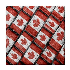 Canadian Flag Motif Pattern Tile Coasters by dflcprints